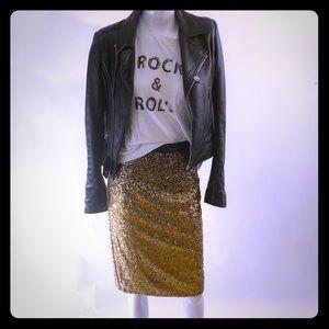Nikibiki sequin gold ombre pencil skirt